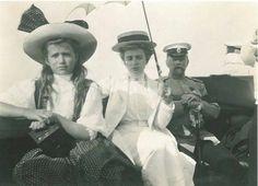 "Grand Duchess Maria Nikolaevna Romanova of Russia on the launch of the Standart with Empress Alexandra Feodorovna's Lady in Waiting,Olga Byutsova in 1911. ""AL"""