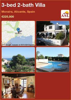 3-bed 2-bath Villa in Moraira, Alicante, Spain ►€225,000 #PropertyForSaleInSpain