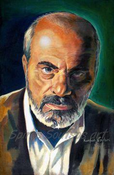 'Stelios Kazantzidis portrait painting' Canvas Print by Star Portraits Soutsos Art Canvas Prints, Painting Canvas, Poster, Stars, Artists, Fictional Characters, Music, Portraits, Box