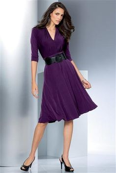 Belted-Fit-And-Flare-Dress
