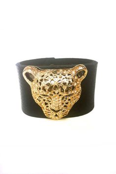 Silk & Steel Cuff- Instore now Panther, Cuff Bracelets, Black Leather, Steel, Silk, Accessories, Jewelry, Fashion, Moda