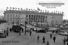 IX Conferencia Panamericana en Bogotá - 8 de Abril de 1948 - Un día antes del 'Bogotazo'.   Foto: Tito J Celis Costa, Louvre, Street View, Architecture, Building, Plaza, Travel, Twitter, Ideas