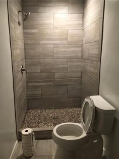 Jeffrey Court Bailey Grey Pebble 12 in. x 12 in. x 10 mm Honed Marble Stone Mosaic Wall/Floor - The Home Depot Small Bathroom With Shower, Bathroom Design Small, Bathroom Layout, Bathroom Interior Design, Tile Layout, Neutral Bathroom, Bathroom Designs, Minimal Bathroom, Gray Shower Tile