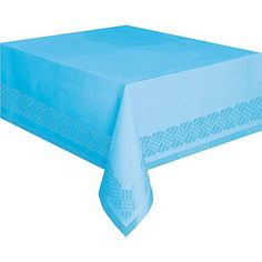 Plastic Lined Light Blue Paper Tablecloth 108 x 54 *** Find out more about the great product at the image link.  This link participates in Amazon Service LLC Associates Program, a program designed to let participant earn advertising fees by advertising and linking to Amazon.com.