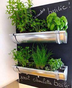 Hortas criativas - uma ótima saída para quem possui pouco espaço e muita vontade de se alimentar corretamente.