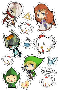 The Legend Of Zelda Chibi | legend of zelda stickers!!tbh i wanted to add characters from more ...