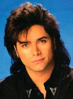 "John Stamos - ""Uncle Jesse"" in Full House.Saw him in person on a New York Street. Full House, Tio Jesse, Love The 90s, 90s Nostalgia, Mullets, 90s Kids, Hair Pictures, The Good Old Days, Childhood Memories"