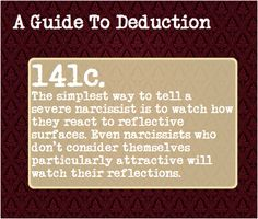 "A Guide To Deduction, Submitted by: bloodonmytypewriterkeys ""The..."