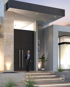 Find home projects from professionals for ideas & inspiration. Residencia 118 by Elias Braun Architecture Modern Entrance Door, Entrance Design, Modern Door, House Entrance, Door Design, Modern Entryway, Main Entrance, House Front Door, House Front Design