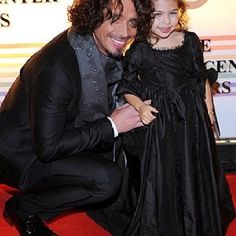 Chris Cornell #music #icons #rock #grunge ... With daddy on the red carpet