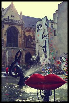 Artwork at the Pompidou Centre, Paris