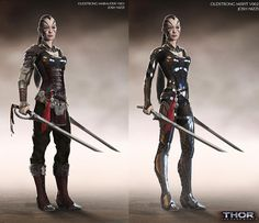 THOR: THE DARK WORLD Concept Art by Josh Nizzi Featuring Unused Characters - Oldstrong Marauder