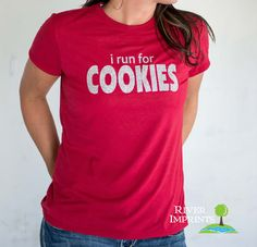 COOKIES T-shirt, Performance Short Sleeve Ladies' Fitted or Unisex Fit Sparkly Glitter T-Shirt, Create your Own