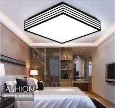 LED akril tér mennyezeti lámpa Fekete-fehér LED-es mennyezeti lámpa Hálószoba Nappali Konyha alkatrészek Lámpák LED otthoni