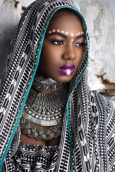 tribal inspired makeup with a fashion twist, photographed by Allure photography2 and modeled by ReneZoe ~African fashion, Ankara, kitenge, African women dresses, African prints, Braids, Nigerian wedding, Ghanaian fashion, African wedding ~DKK