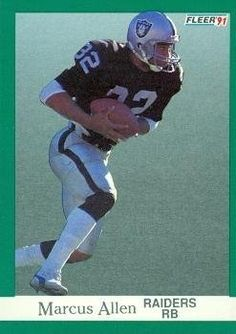 Marcus Allen Football Card (Los Angeles Raiders) 1991 Fleer #102 by Hall of Fame Memorabilia. $30.95. Marcus Allen Football Card (Los Angeles Raiders) 1991 Fleer #102. Signed items come fully certified with Certificate of Authenticity and tamper-evident hologram.