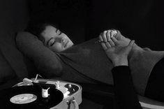goregirlsdungeon:  Romy Schneider (that is Henri Serre's arm) listening to a record in Le combat dans l'île (1962) directed by Alain Cavalier