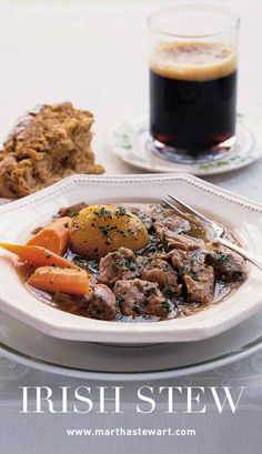 Irish Stew | Martha Stewart Living - The ingredients for Irish stew are layered in a heavy pot and slow-cooked in the oven, allowing the lamb and potatoes to tenderize and the flavors to deepen and meld. The best part is that you can walk away from the simmering pot and return two hours later to a mouthwatering meal.