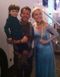 """Sean Maguire: """"Here's a pick of me Georgina Haig and my boy.because my niece & nephews don't believe I'm friends with the real Elsa!"""""""