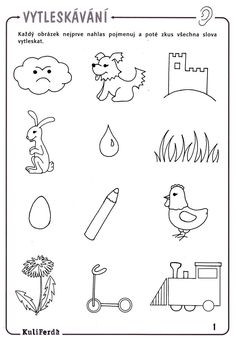 Rytmizace - slabiky Kids Learning Activities, Educational Activities, Drawing Tutorials For Beginners, Paper Birds, Drawing For Kids, Montessori, Worksheets, Coloring Pages, Preschool
