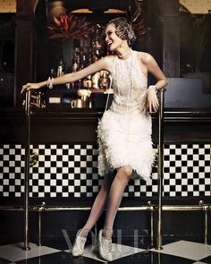 "for a vintage style dress party --""Good Time Girls"": Flappers by Hong Jang Hyun for Vogue Korea"