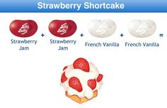 Strawberry Shortcake Jelly Belly Flavor Recipe Jelly Belly Flavors, Jelly Belly Beans, Jelly Beans, Bean Recipes, Yummy Recipes, Combo Recipe, Belly Belly, Ice Cream Cookies, Sweets