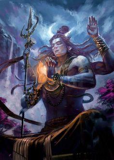 Arte Shiva, Shiva Hindu, Shiva Art, Hindu Deities, Hindu Art, Shiva Shakti, Angry Lord Shiva, Lord Shiva Pics, Lord Shiva Hd Images