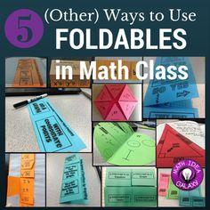 5 Ways to Use Foldables in Math Class- at ideagalaxyteacher. Math Teacher, Math Classroom, Teaching Math, Teaching Ideas, Maths, Classroom Ideas, Math Fractions, Classroom Activities, Interactive Student Notebooks