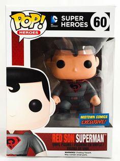 FUNKO POP! RED SON SUPERMAN DC HEROES #60 MIDTOWN EXCLUSIVE NYCC NEW RARE VINYL