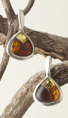 Three Color Amber Earrings, Earrings, Jewelry, Home - The Museum Shop of The Art Institute of Chicago