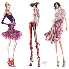 Arturo Elena Fashion Illustration – Illustration inspiration on... ❤ liked on Polyvore