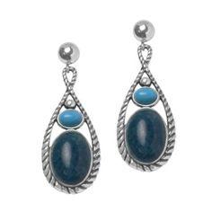 Haute Color Blue Drop Earrings - I love blue! Bali Jewelry, Stone Jewelry, Diamond Jewelry, Blue Drop Earrings, Ring Necklace, Fashion Accessories, Bling, Pendants, Turquoise