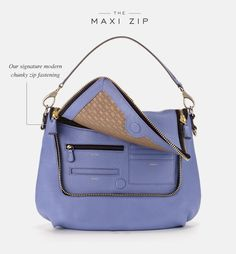 A peek inside the Maxi Zip Satchel