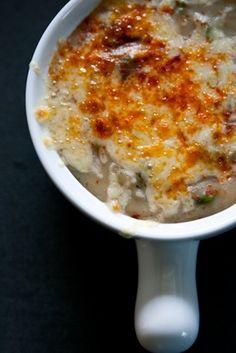 creamy herbed potato & kale soup