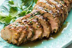 Sigue paso a paso esta receta y sorprende a todos con un perfecto lomo de cerdo asado con jengibre y sésamo, el sabor es increíble.