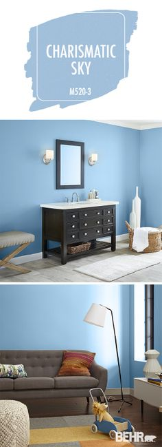 162 Best Blue Rooms Images On Pinterest In 2018 Behr Paint Colors Bedrooms And Dining