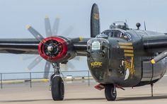 Liberator B-24 #5 - The Liberator as its righthand inboard engine spins up prior to taxiing out for a flight.