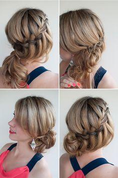waterfall braided bun
