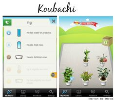 Koubachi App will then send you alerts whenever your plant needs to be watered, misted, or fertilized.