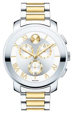 Movado 'Bold' Two-Tone Multifunction Bracelet Watch, 40mm available at #Nordstrom