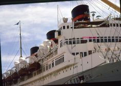 35mm Color Slide Queen of Bermuda 1961 Kodachrome Cruise Ship