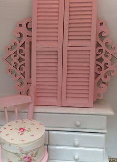 A personal favorite from my Etsy shop https://www.etsy.com/listing/176974168/pink-shutters-112-scale-dollhouse