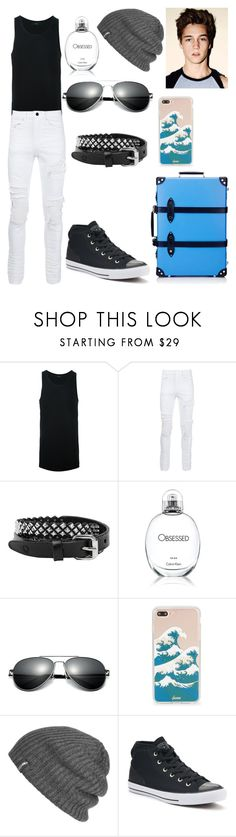"""""""Max"""" by rainbowsuperunicornchicken ❤ liked on Polyvore featuring AMIRI, Calvin Klein, Sonix, Outdoor Research, Converse, Globe-Trotter, men's fashion and menswear"""