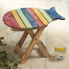 £28 A fun fish-shaped camping stool or small table, recalling 'diphros okladias', folding stools which have been in use since ancient times, and can be seen on surviving sections of the Parthenon Frieze displayed in Athens' Acropolis Museum, for example: Poseidon, Apollo and Artemis in the meeting of gods from the east frieze of Parthenon, c.440 BC.