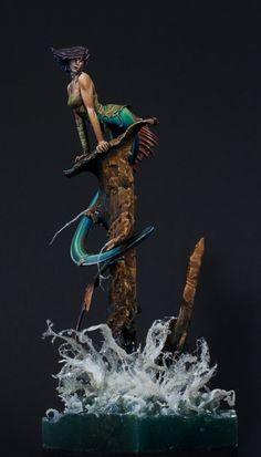 Mermaid painted by Andreas -Feanor- Pettau | Putty & Paint