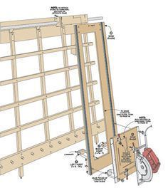 Sliding Carriage Panel Saw Woodsmith Plans