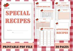 This is more than a printable recipe book. It is a keepsake. You print, add to a binder with dividers and page protectors. Included are places to record who has added to the book, add comments about why recipes are special, add photos and comments and even resources for meal planning and shopping!  This is a unique design and the best part is you can print as many of the 20 pages each page as you wish. You can even print multiple books! One for each child or grandchild maybe.  It makes a…