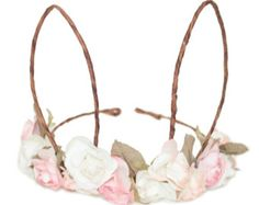 Bunny Ears Floral Crown - One size