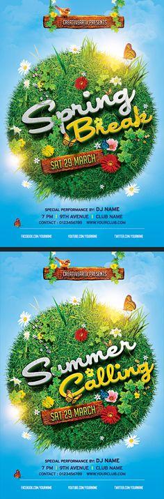 Spring Break / Summer Party Flyer on Behance