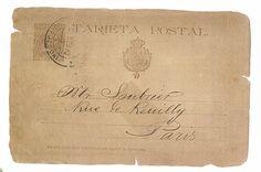ephemera vintage french post card